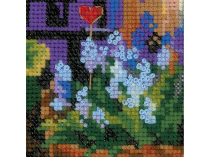 Windowsill with Flowers Cross Stitch Kit фото 5