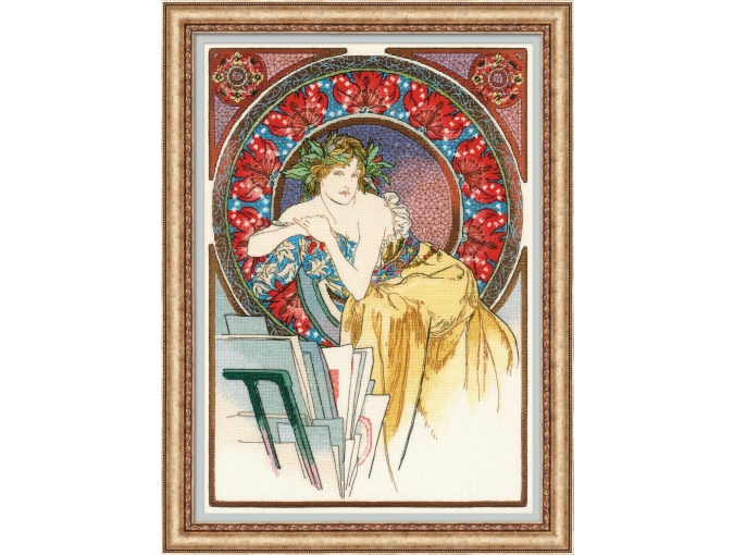 Girl with an Easel Cross Stitch Kit фото 1
