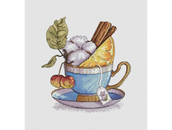 Winter Tea Cross Stitch Chart фото 2