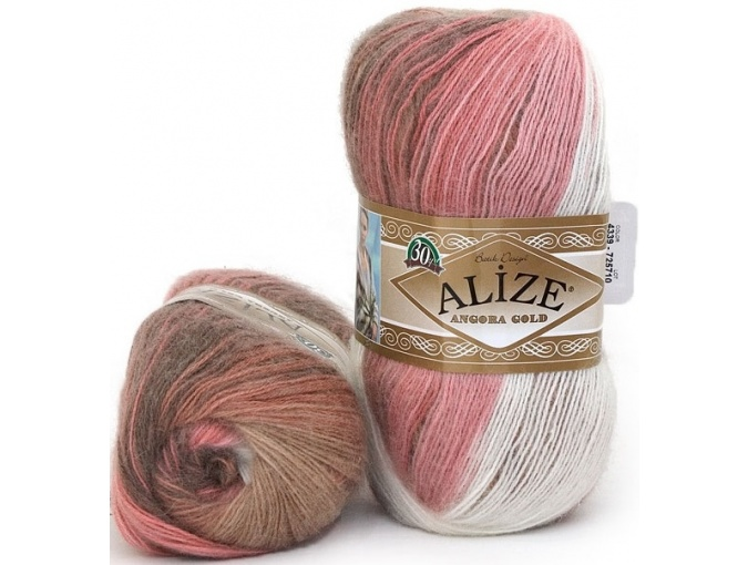 Alize Angora Gold Batik, 10% mohair, 10% wool, 80% acrylic 5 Skein Value Pack, 500g фото 29