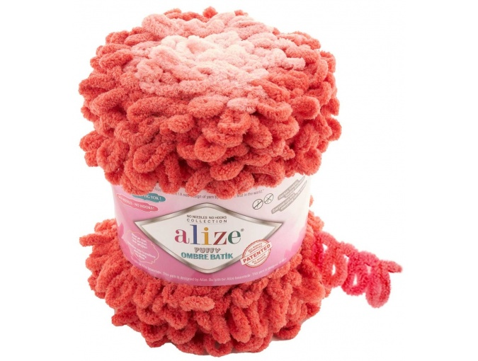 Alize Puffy Ombre Batik, 100% Micropolyester 1 Skein Value Pack, 600g фото 2