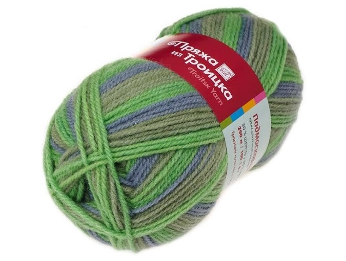 Troitsk Wool Countryside Print, 50% wool, 50% acrylic 10 Skein Value Pack, 1000g фото 47