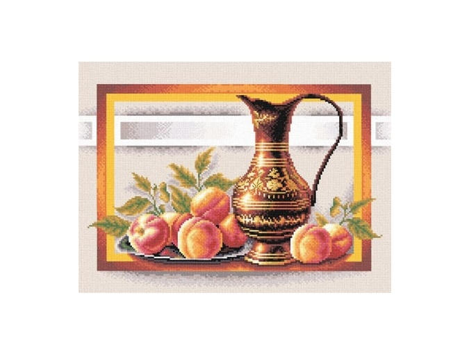 Still Life with Peaches Cross Stitch Kit фото 1
