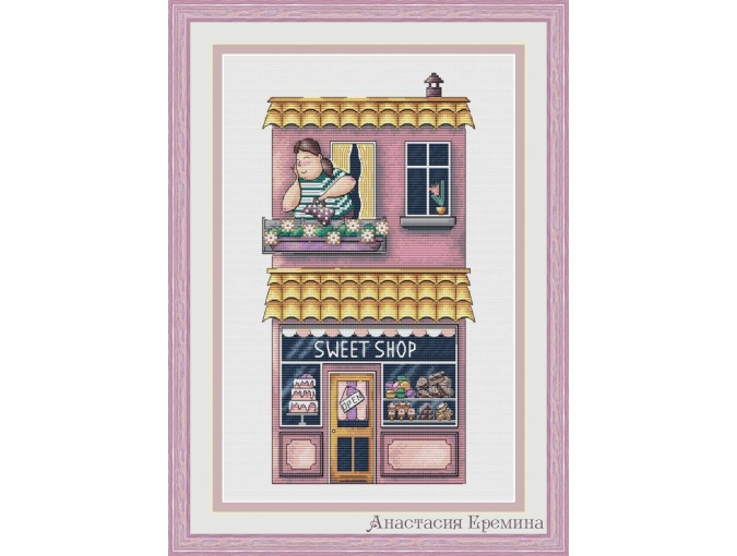 Sweet Shop Cross Stitch Pattern фото 1