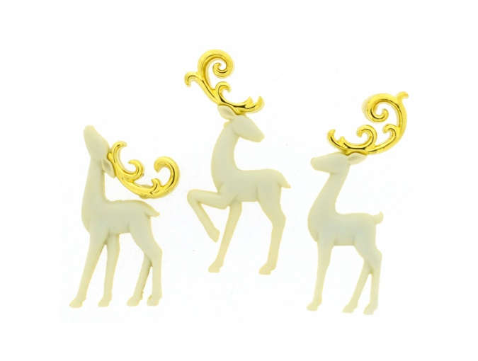 Majestic Reindeer Set of Decorative Buttons фото 1