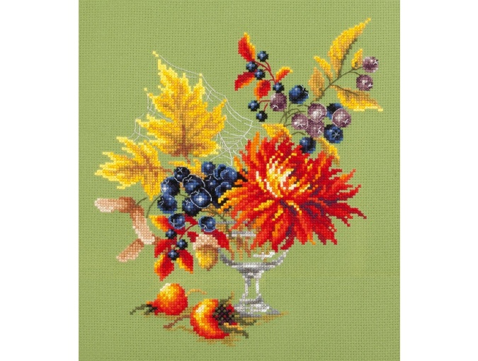 Autumn Bouquet Cross Stitch Kit фото 1