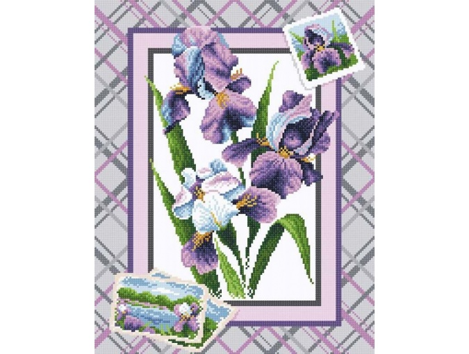 Bouquet of Irises Diamond Painting Kit фото 1