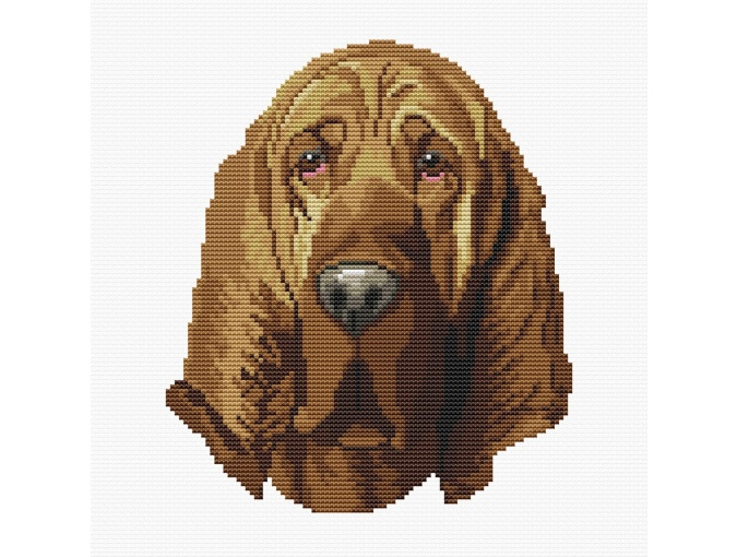 Bloodhound Cross Stitch Pattern фото 1