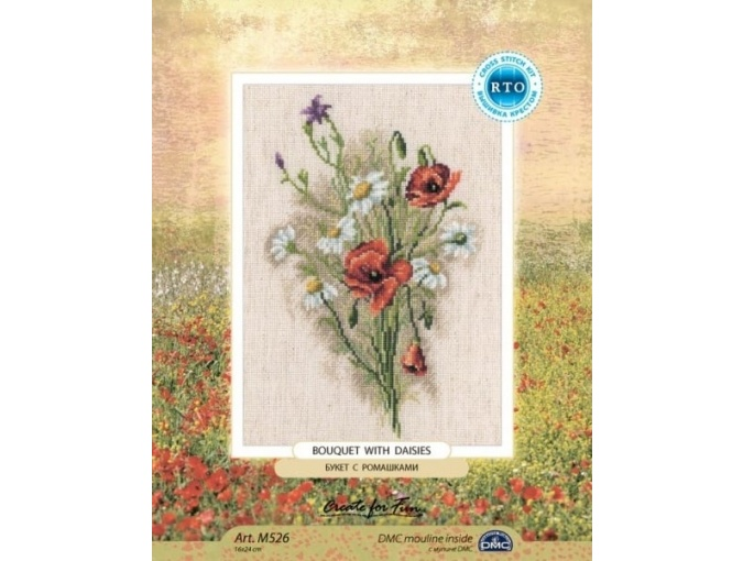 Bouquet With Daisies Cross Stitch Kit фото 2
