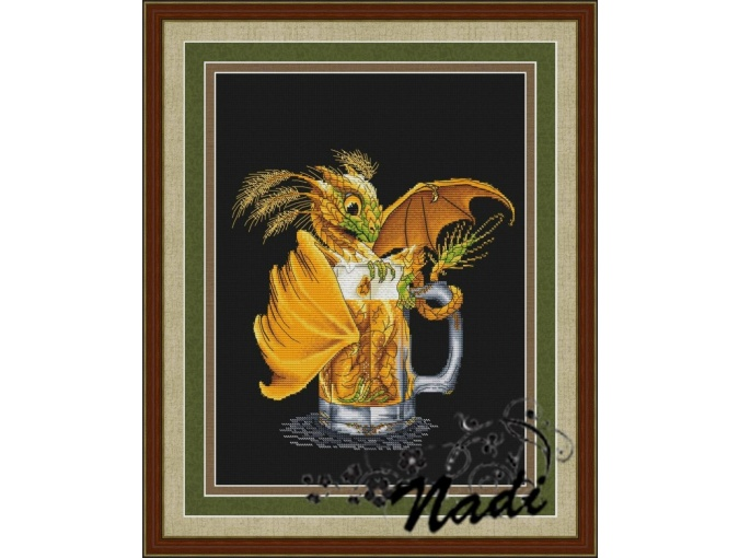 Beer Dragon Cross Stitch Pattern фото 1