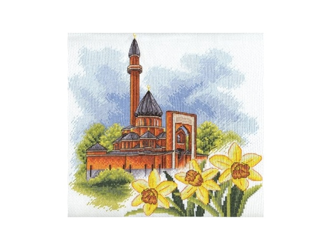 Memorial Mosque in Moscow Cross Stitch Kit фото 1