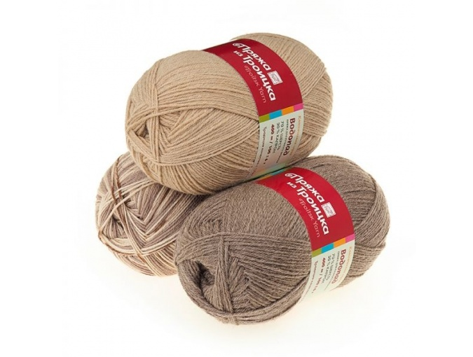 Troitsk Wool Waterfall, 70% wool, 30% nylon 10 Skein Value Pack, 1000g фото 1