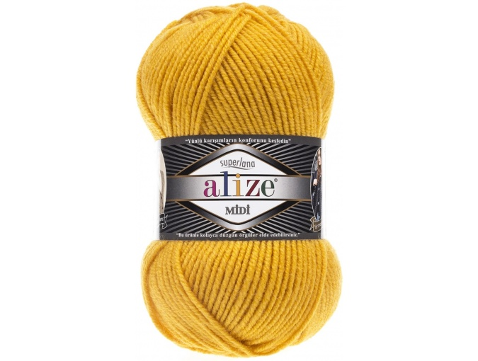 Alize Superlana Midi 25% Wool, 75% Acrylic, 5 Skein Value Pack, 500g фото 34