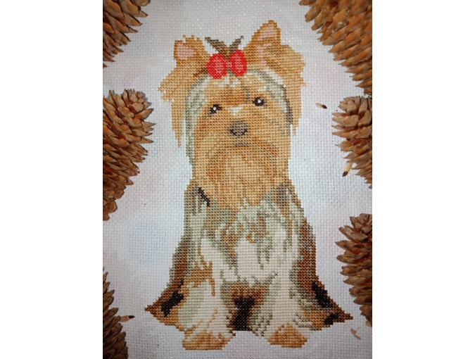 Yorkshire Terrier Cross Stitch Pattern фото 2