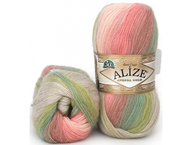Alize Angora Gold Batik, 10% mohair, 10% wool, 80% acrylic 5 Skein Value Pack, 500g фото 35