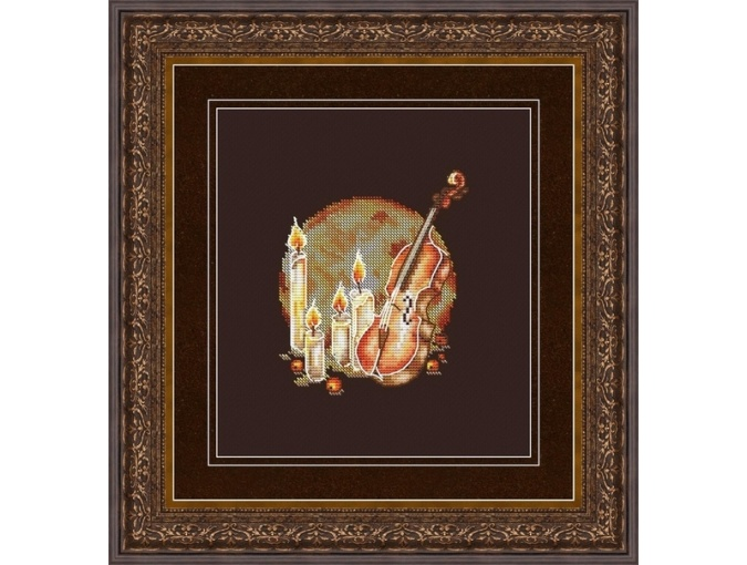 Evening Violin Cross Stitch Pattern фото 1