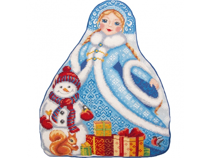 Snow Maiden Cushion Front Cross Stitch Kit фото 1