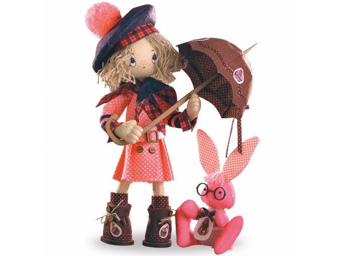 Favorite Heroes. Baby Chocolate Girl Doll Sewing Kit фото 1