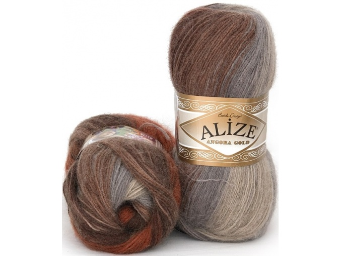 Alize Angora Gold Batik, 10% mohair, 10% wool, 80% acrylic 5 Skein Value Pack, 500g фото 44