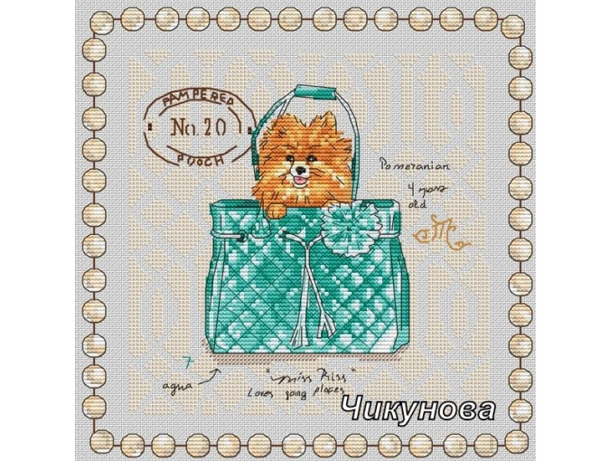 Pocket Dogs. Spitz Cross Stitch Pattern фото 1