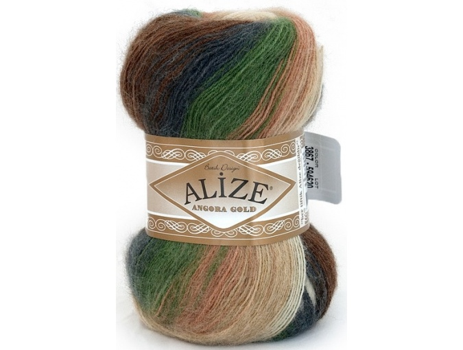 Alize Angora Gold Batik, 10% mohair, 10% wool, 80% acrylic 5 Skein Value Pack, 500g фото 18
