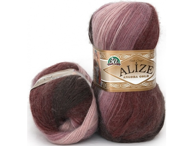 Alize Angora Gold Batik, 10% mohair, 10% wool, 80% acrylic 5 Skein Value Pack, 500g фото 43