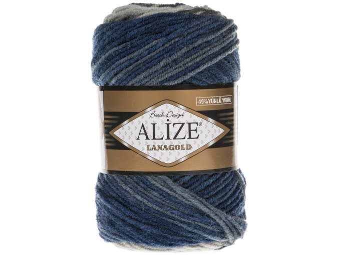Alize Lanagold Batik 49% Wool, 51% Acrylic, 5 Skein Value Pack, 500g фото 2