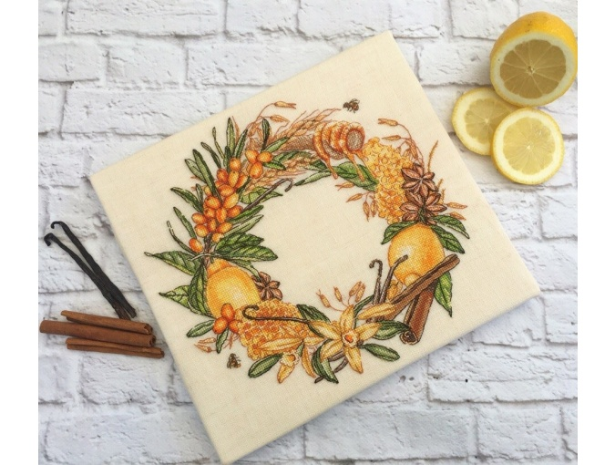 Vitamin Wreath Cross Stitch Pattern фото 2