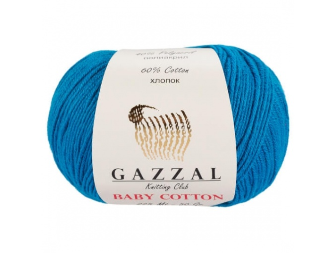 Gazzal Baby Cotton, 60% Cotton, 40% Acrylic 10 Skein Value Pack, 500g фото 38