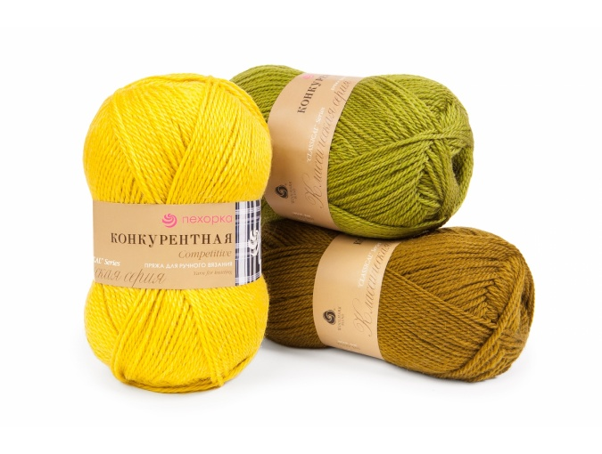 Pekhorka Competitive, 50% Wool, 50% Acrylic 10 Skein Value Pack, 1000g фото 1