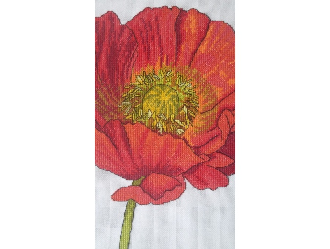 Bright Poppy Cross Stitch Pattern фото 9