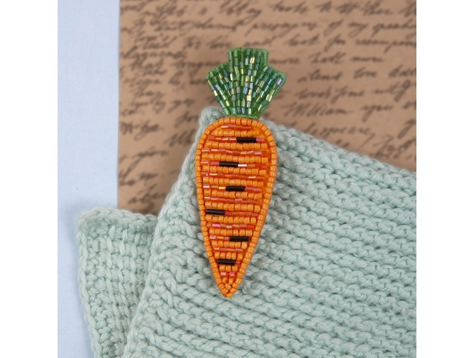 Brooch. Carrot Bead Embroidery Kit фото 3