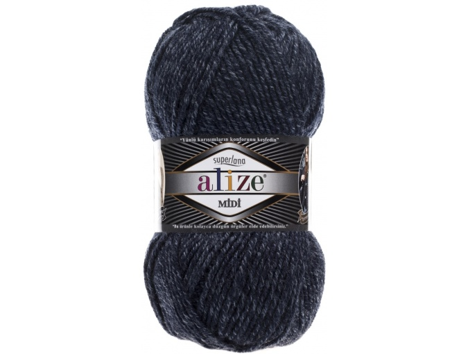 Alize Superlana Midi 25% Wool, 75% Acrylic, 5 Skein Value Pack, 500g фото 46