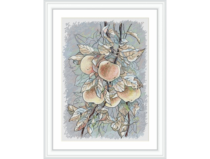 Apples Cross Stitch Pattern фото 1
