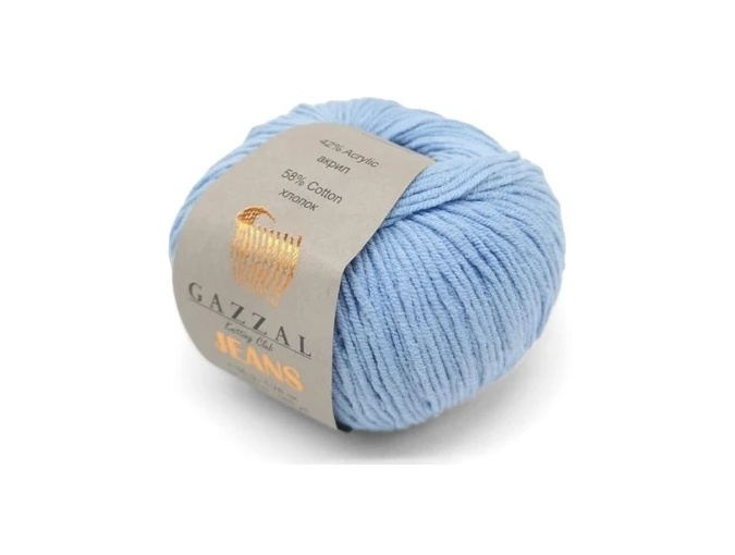 Gazzal Jeans, 58% Cotton, 42% Acrylic 10 Skein Value Pack, 500g фото 6