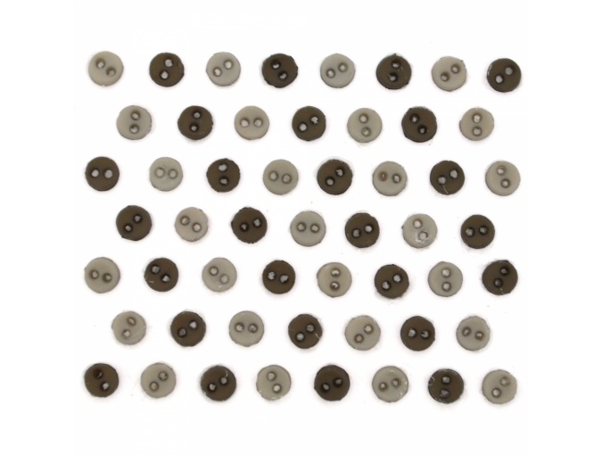 MM Round Greige Set of Decorative Buttons фото 1