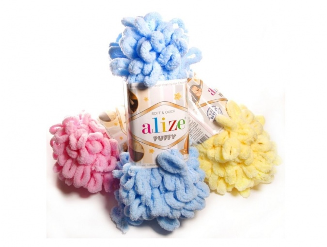 Alize Puffy, 100% Micropolyester 5 Skein Value Pack, 500g фото 1