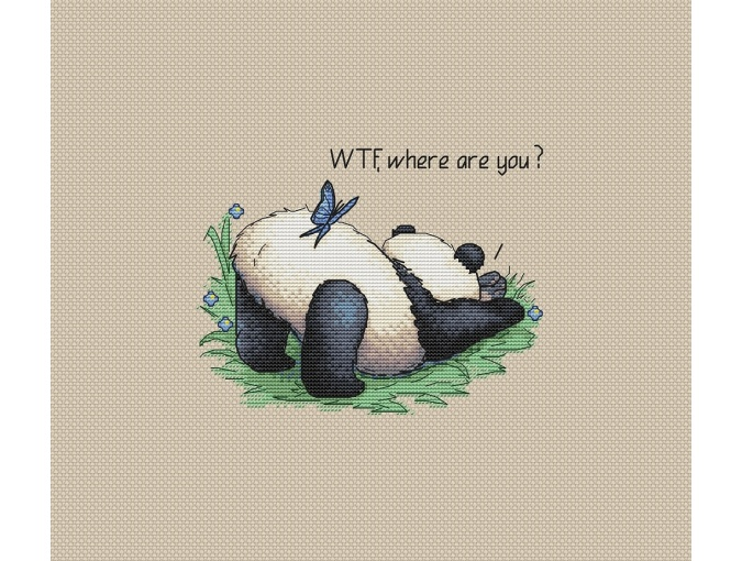 WTF, Where are You Cross Stitch Pattern фото 1