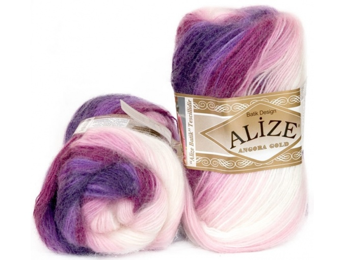 Alize Angora Gold Batik, 10% mohair, 10% wool, 80% acrylic 5 Skein Value Pack, 500g фото 13