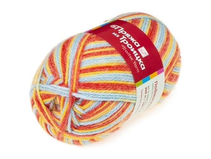 Troitsk Wool Countryside Print, 50% wool, 50% acrylic 10 Skein Value Pack, 1000g фото 4