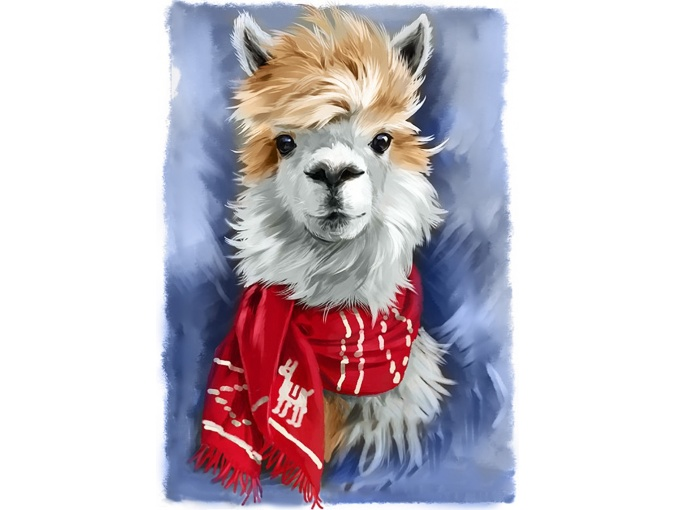 Llama Diamond Painting Kit фото 1