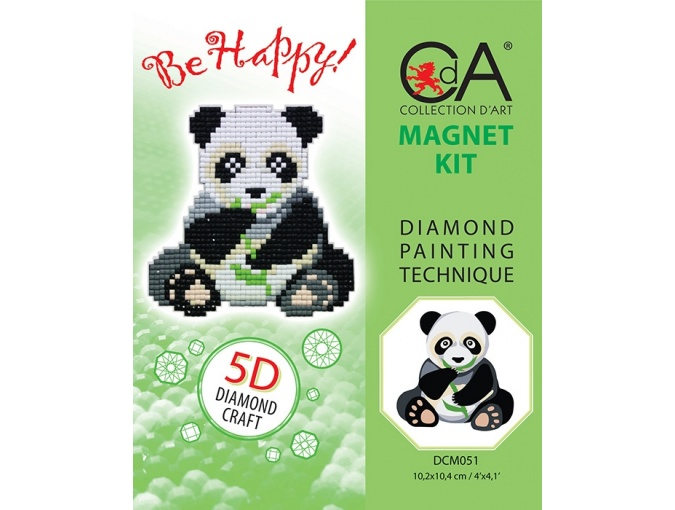 Panda Magnet Diamond Painting Kit фото 2
