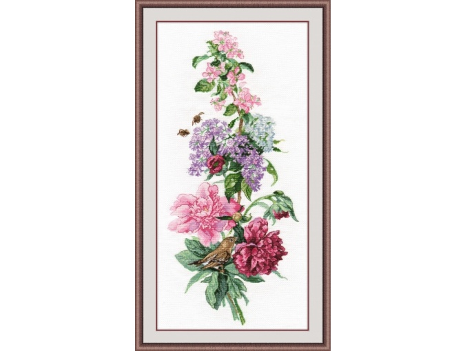 Flower Composition Cross Stitch Kit фото 1