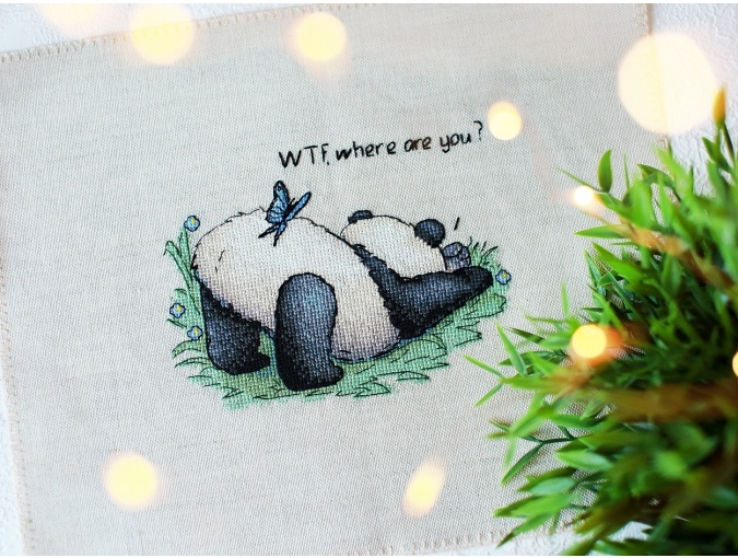 WTF, Where are You Cross Stitch Pattern фото 2