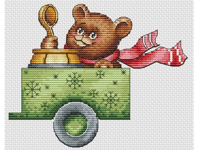 Christmas Truck Cross Stitch Pattern фото 7