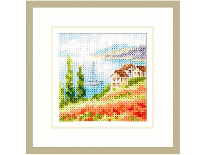 Poppies by the Sea Cross Stitch Kit фото 1