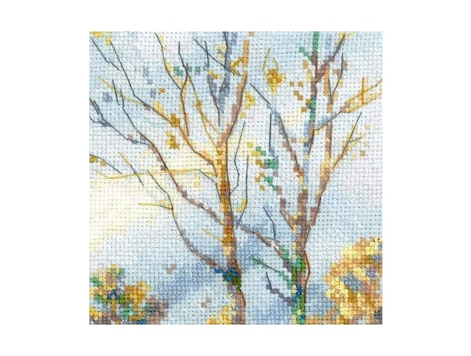 Moose in a Winter Forest Cross Stitch Kit  фото 4