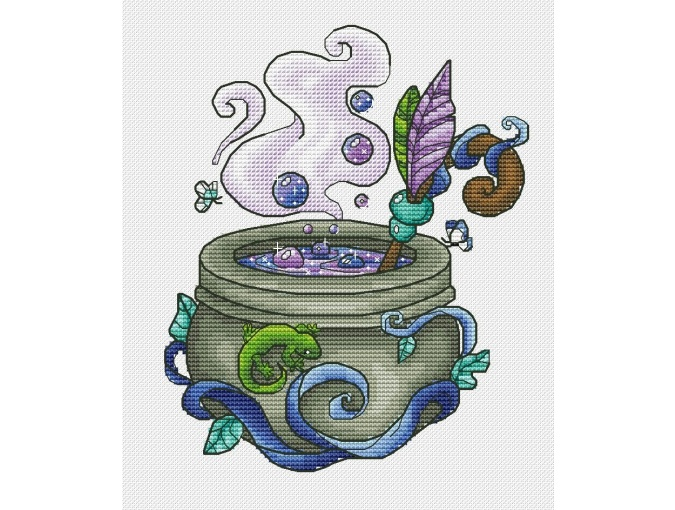 Witch's Cauldron 3 Cross Stitch Pattern фото 1