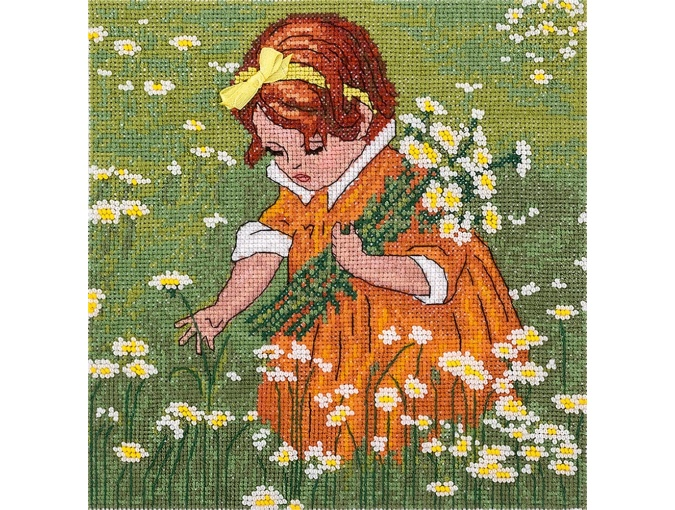 A Girl in Chamomiles Cross Stitch Kit фото 1