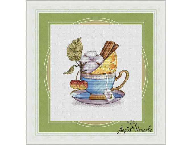 Winter Tea Cross Stitch Chart фото 1